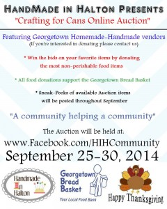 Handmade In Halton (North) Georgetown Bread Basket Auction Event
