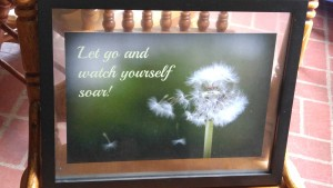 "Dandelion wishes remind us that our journey continues even when we let go...Like the flight of a dandelion seed, ""Let go and watch yourself soar"" - this phrase is an adaptation from my poem ""Wide Open"" which can be found on my blog."